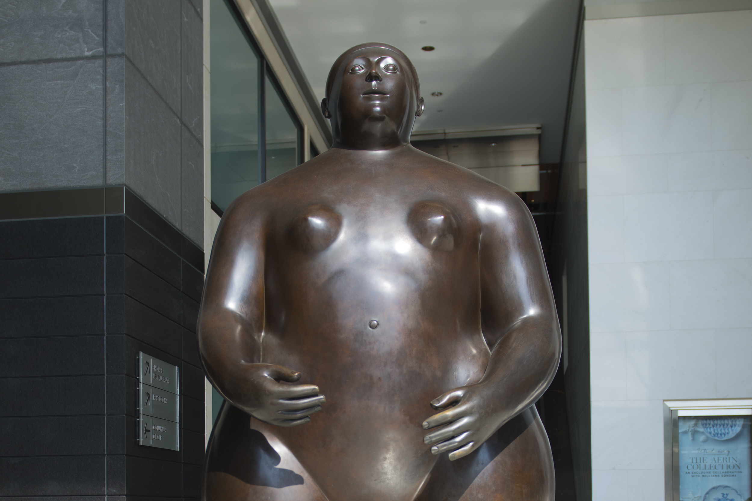 Obese statue at Time Warner Center