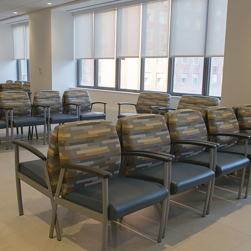 Waiting area chairs